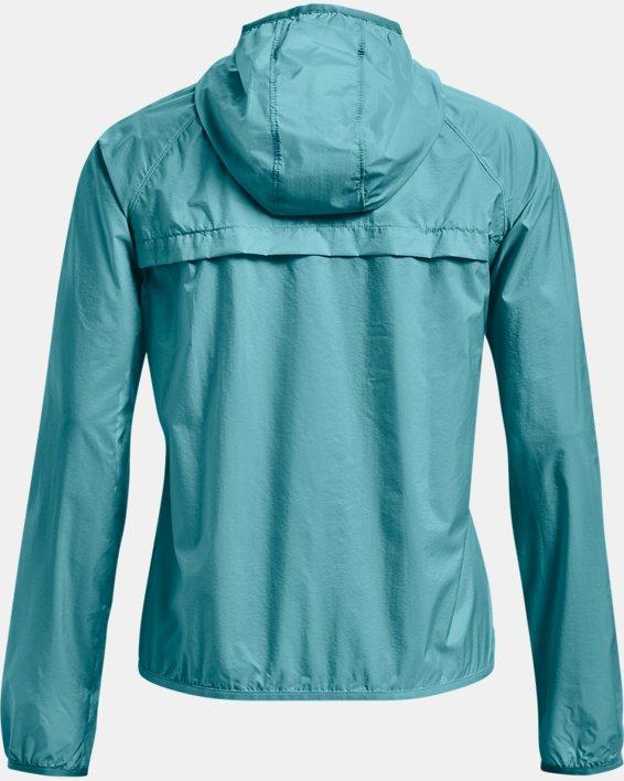 Women's UA Qualifier Storm Packable Jacket, Blue, pdpMainDesktop image number 4