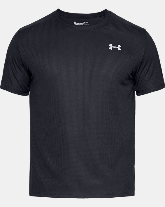 Men's UA Speed Stride Short Sleeve, Black, pdpMainDesktop image number 3