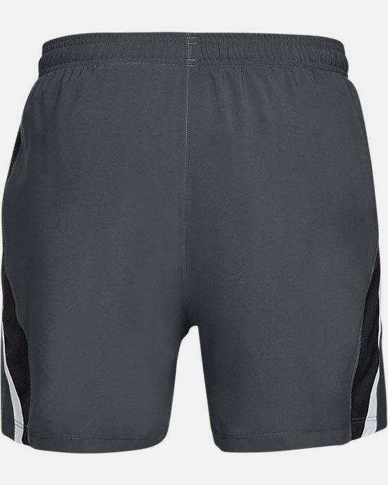 Men's UA Launch SW 5'' Shorts, Gray, pdpMainDesktop image number 4