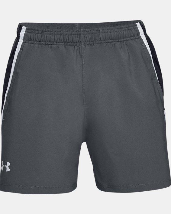 Men's UA Launch SW 5'' Shorts, Gray, pdpMainDesktop image number 3