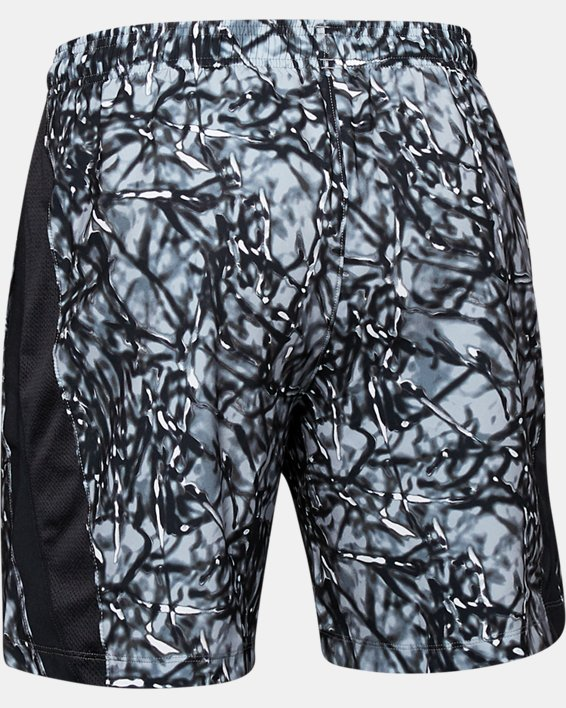 Men's UA Launch SW 7'' Printed Shorts, Black, pdpMainDesktop image number 5