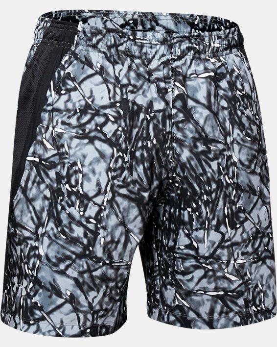 Men's UA Launch SW 7'' Printed Shorts, Black, pdpMainDesktop image number 4
