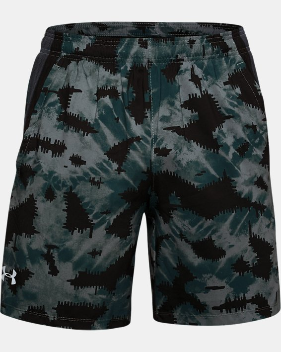 Short UA Launch SW 18 cm Printed pour homme, Blue, pdpMainDesktop image number 3
