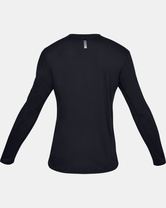 Men's UA Streaker Long Sleeve, Black, pdpMainDesktop image number 4
