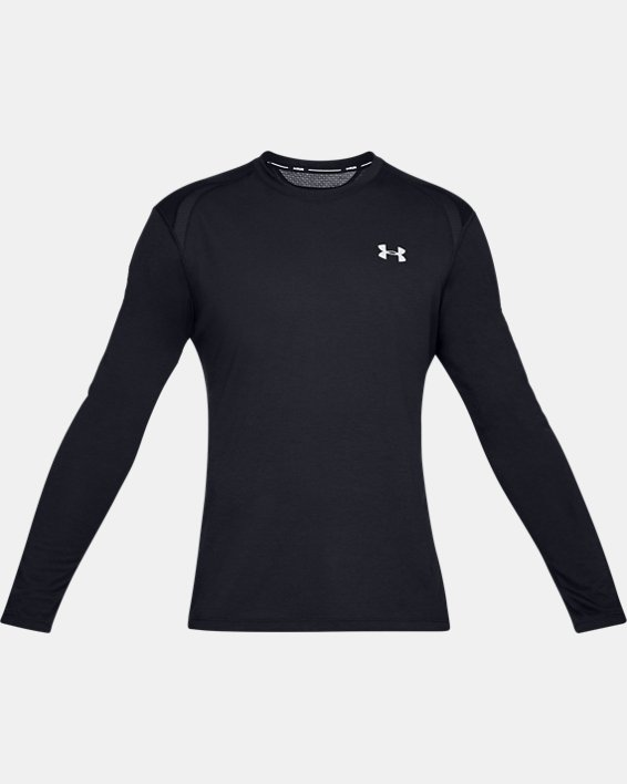 Men's UA Streaker Long Sleeve, Black, pdpMainDesktop image number 3