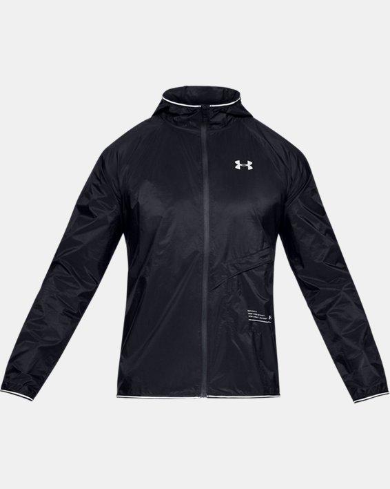 Men's UA Qualifier Storm Packable Jacket, Black, pdpMainDesktop image number 3