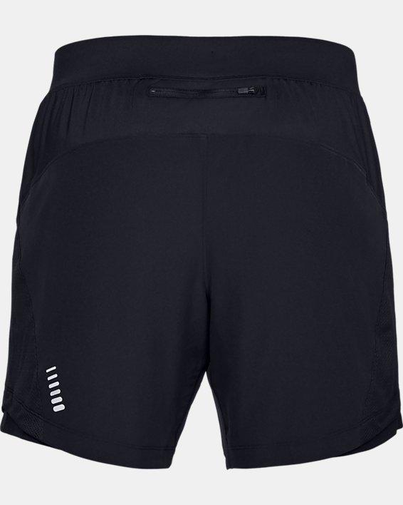 Short UA Qualifier Speedpocket 18cm pour homme, Black, pdpMainDesktop image number 4