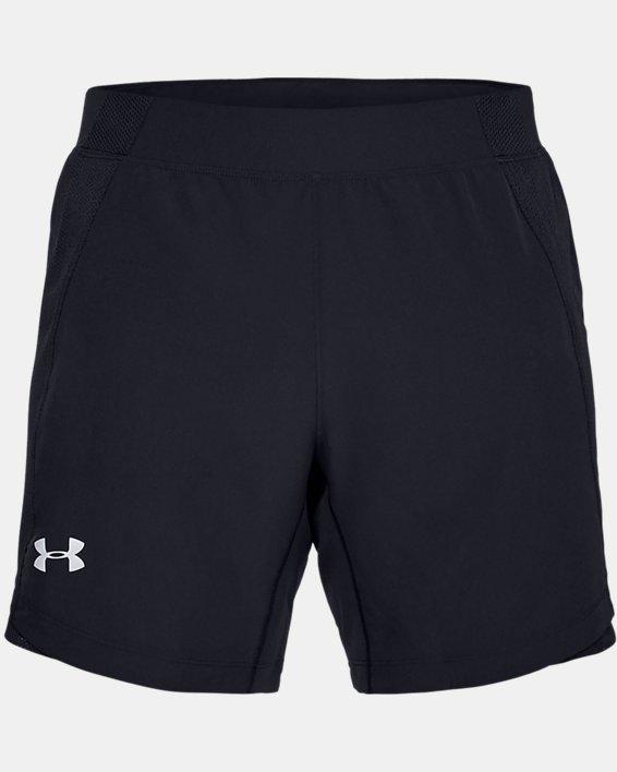 Short UA Qualifier Speedpocket 18cm pour homme, Black, pdpMainDesktop image number 3