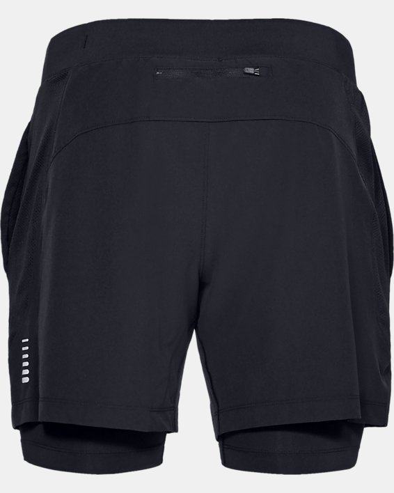 Men's UA Qualifier Speedpocket 2-in-1 Shorts, Black, pdpMainDesktop image number 5