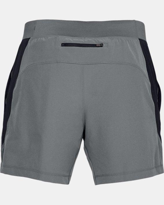 Men's UA Qualifier Speedpocket 2-in-1 Shorts, Gray, pdpMainDesktop image number 5