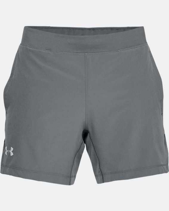 Men's UA Qualifier Speedpocket 2-in-1 Shorts, Gray, pdpMainDesktop image number 4
