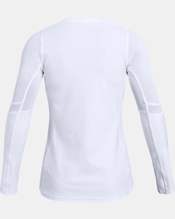Girls' UA Volleyball Powerhouse Long Sleeve Jersey, White, pdpMainDesktop image number 1
