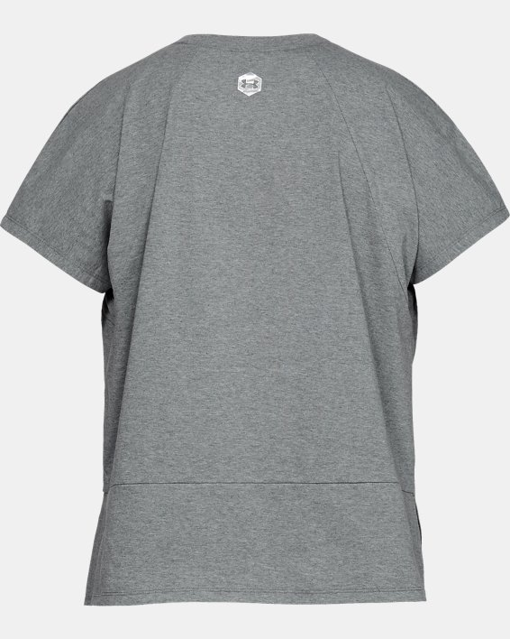 Women's UA RECOVER™ T-Shirt, Gray, pdpMainDesktop image number 4