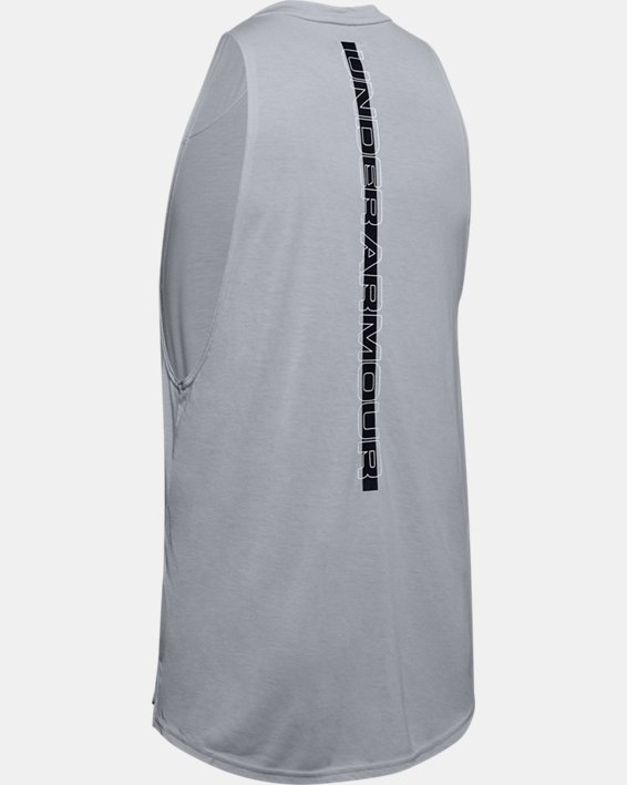 Men's UA Baseline Performance Tank, Gray, pdpMainDesktop image number 5