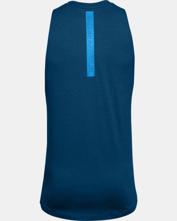 Men's UA Baseline Cotton Tank, Blue, pdpMainDesktop image number 5