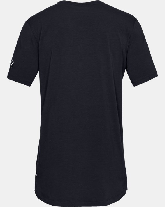 Men's UA Baseline Short Sleeve Long Line T-Shirt, Black, pdpMainDesktop image number 4