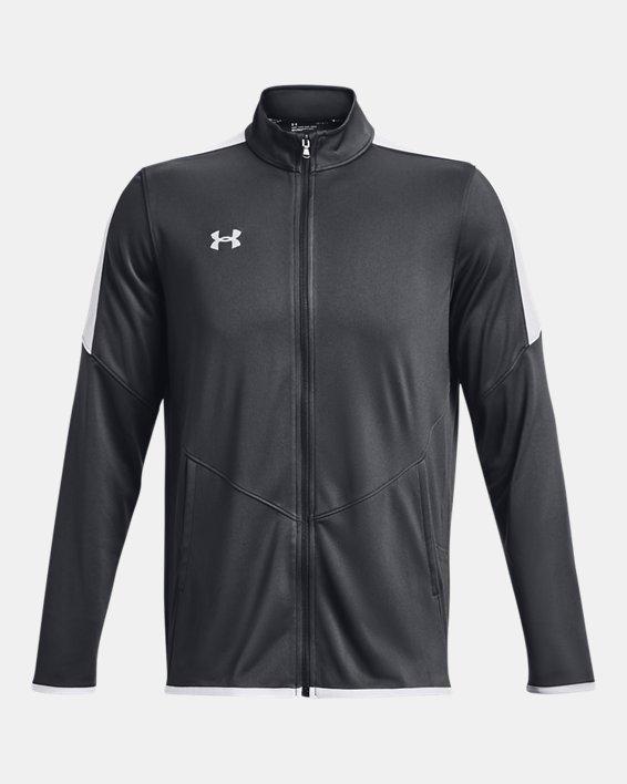 Men's UA Rival Knit Jacket, Gray, pdpMainDesktop image number 4