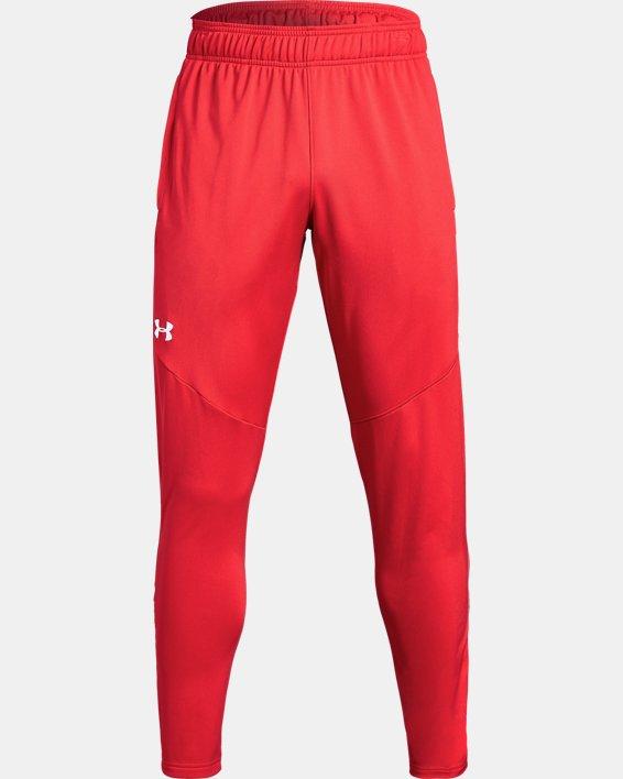 Men's UA Rival Knit Pants, Red, pdpMainDesktop image number 4