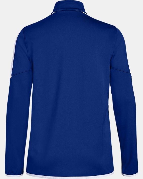 Women's UA Rival Knit Jacket, Blue, pdpMainDesktop image number 5