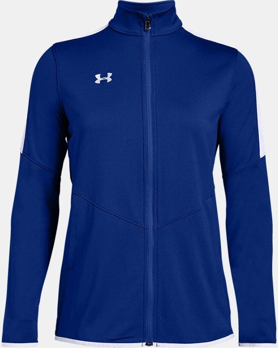 Women's UA Rival Knit Jacket, Blue, pdpMainDesktop image number 4