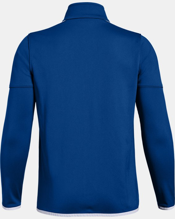 Boys' UA Rival Knit Jacket, Blue, pdpMainDesktop image number 1