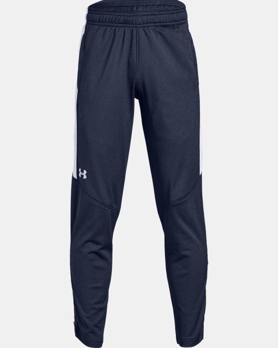Boys' UA Rival Knit Pants, Navy, pdpMainDesktop image number 0