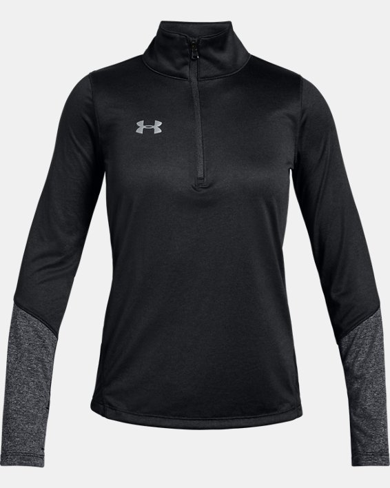 Girls' UA Locker ½ Zip, Black, pdpMainDesktop image number 0