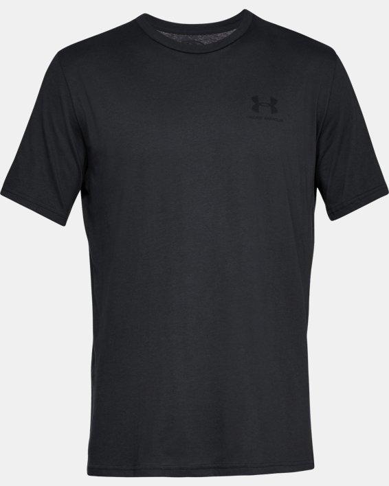 Men's UA Sportstyle Left Chest Short Sleeve Shirt, Black, pdpMainDesktop image number 5