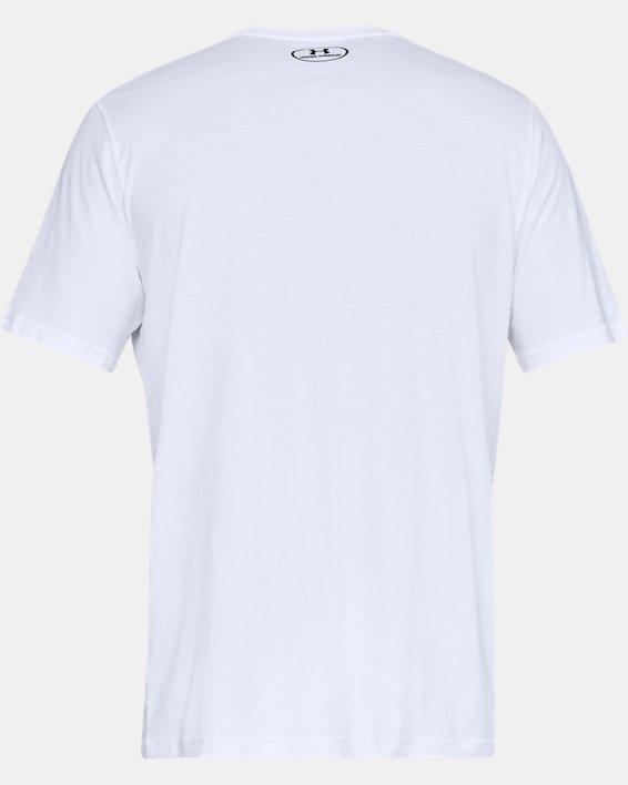 Men's UA Sportstyle Left Chest Short Sleeve Shirt, White, pdpMainDesktop image number 5