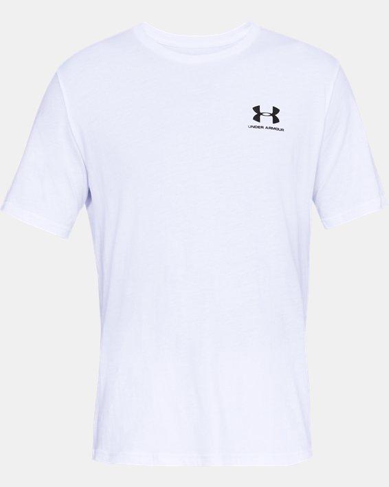 Men's UA Sportstyle Left Chest Short Sleeve Shirt, White, pdpMainDesktop image number 4