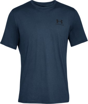 Under Armour Mens Sportsstyle Left Chest T Shirt Tee Top Blue Sports Gym