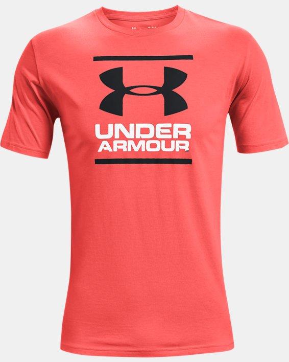 Men's UA GL Foundation Short Sleeve T-Shirt, Red, pdpMainDesktop image number 4