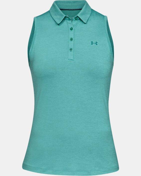 Women's UA Zinger Sleeveless Polo, Blue, pdpMainDesktop image number 4