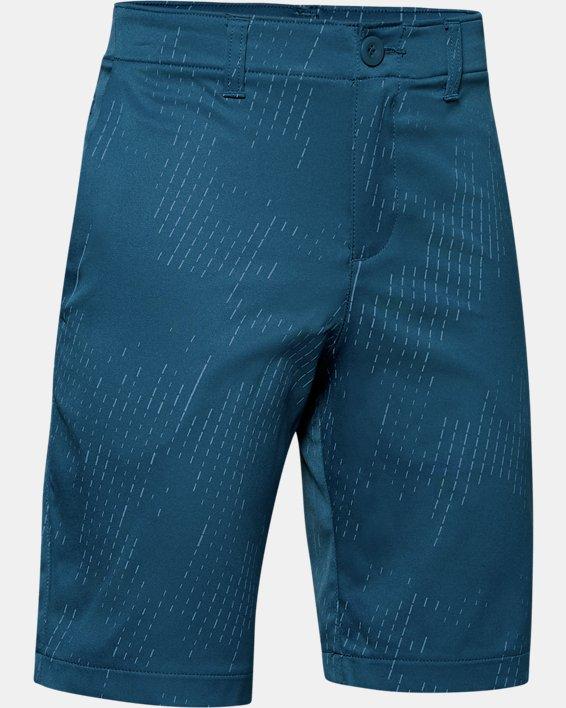 Boys' UA Match Play Printed Shorts, Blue, pdpMainDesktop image number 0