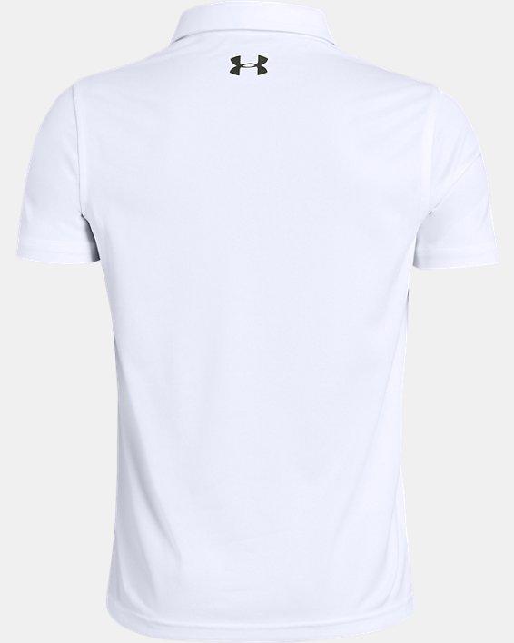 Boys' UA Vanish Engineered Polo, White, pdpMainDesktop image number 1