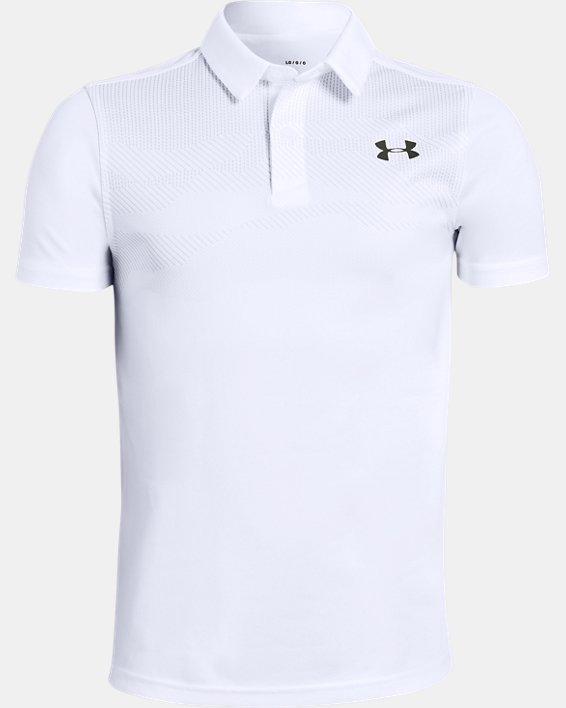 Boys' UA Vanish Engineered Polo, White, pdpMainDesktop image number 0