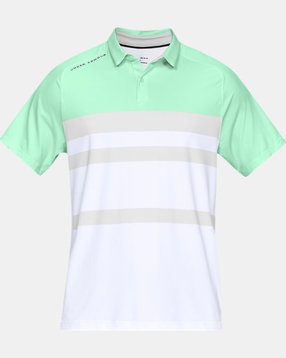 Men's UA Iso-Chill Block Polo, Green, pdpMainDesktop image number 4