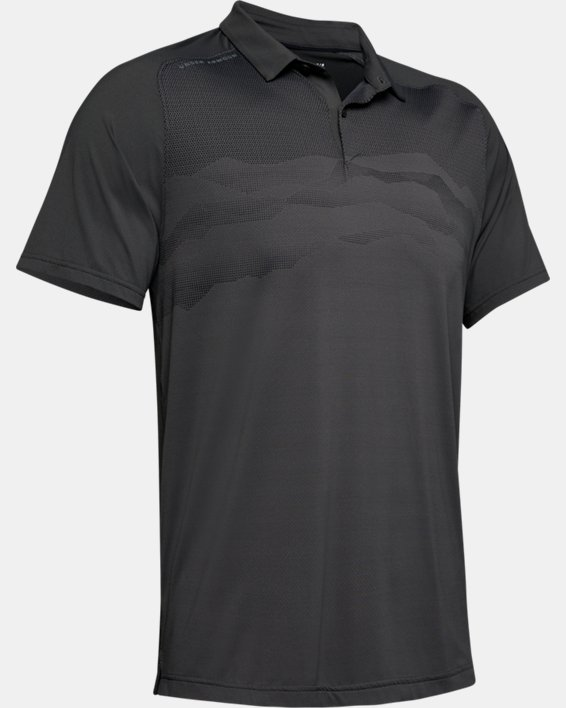 Men's UA Iso-Chill Airlift Polo, Gray, pdpMainDesktop image number 4