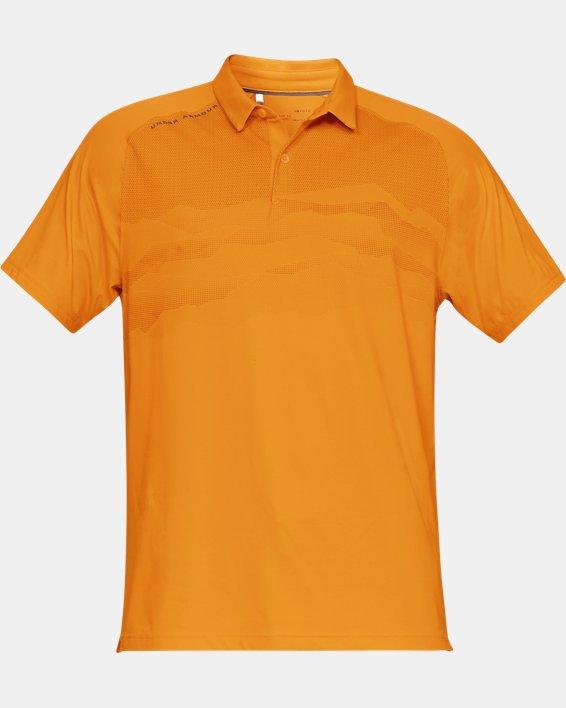 Men's UA Iso-Chill Airlift Polo, Orange, pdpMainDesktop image number 4