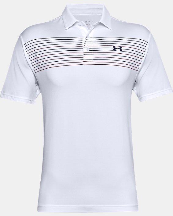 Men's UA Playoff Polo 2.0, White, pdpMainDesktop image number 3