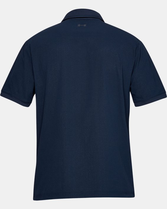 Polo UA Playoff Vented pour homme, Navy, pdpMainDesktop image number 4
