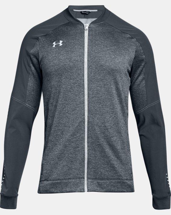 Men's UA Knit Warm-Up Jacket, Gray, pdpMainDesktop image number 4