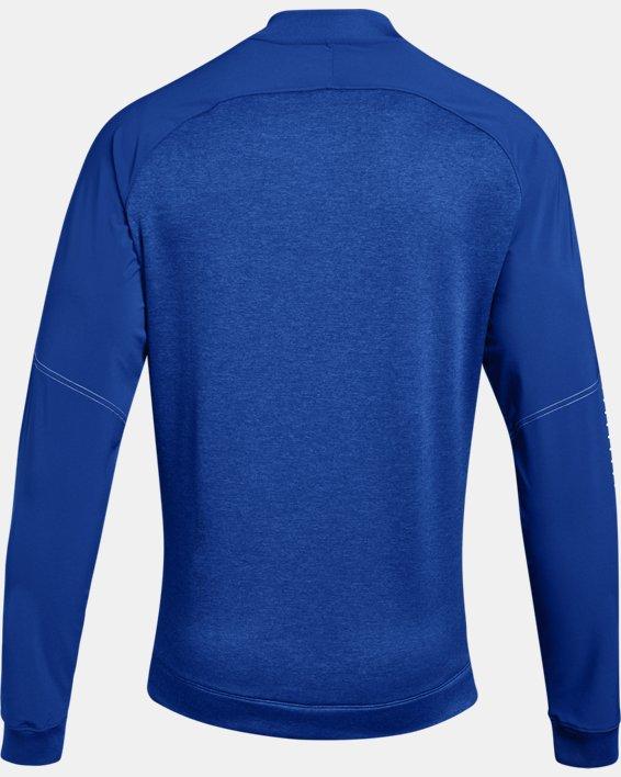 Men's UA Knit Warm-Up Jacket, Blue, pdpMainDesktop image number 5