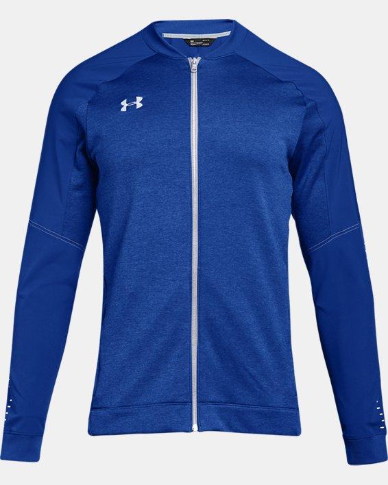 Men's UA Knit Warm-Up Jacket, Blue, pdpMainDesktop image number 4
