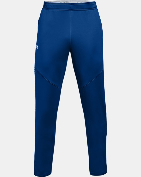 Men's UA Knit Warm-Up Pants, Blue, pdpMainDesktop image number 4