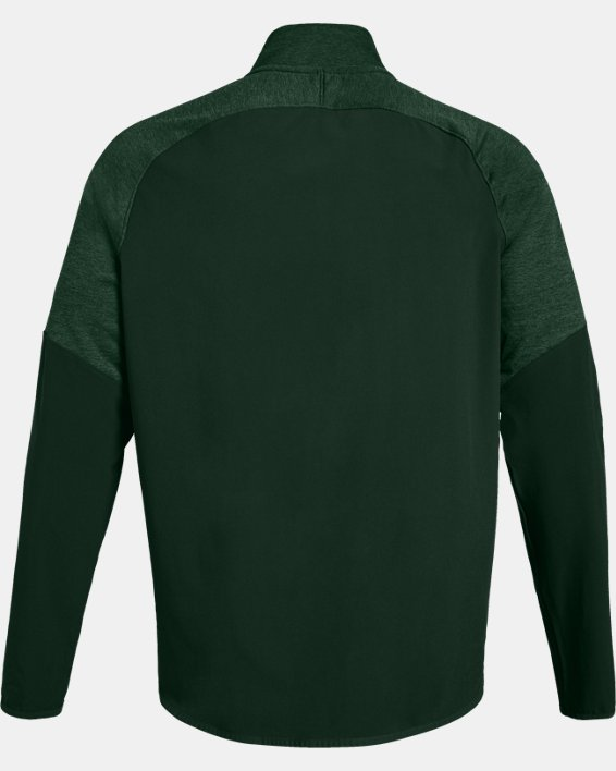 Men's UA Knit Warm-Up ¼ Zip, Green, pdpMainDesktop image number 5