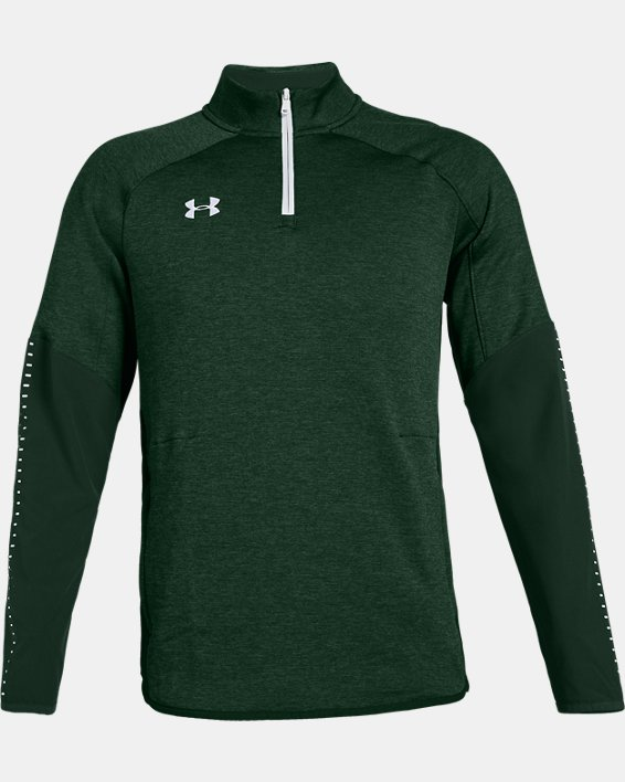 Men's UA Knit Warm-Up ¼ Zip, Green, pdpMainDesktop image number 4