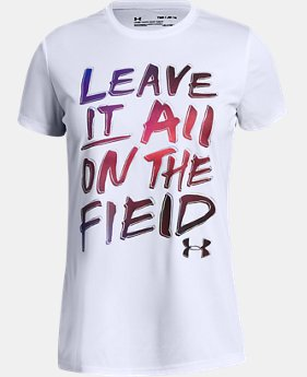 New Arrival Girls' UA Leave It On The Field T-Shirt  1  Color Available $20