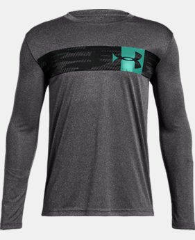 Boys' UA Pixel Crossbar Long Sleeve T-Shirt  4  Colors Available $25