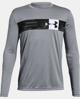 Best Seller Boys' UA Pixel Crossbar Long Sleeve T-Shirt  2  Colors Available $25